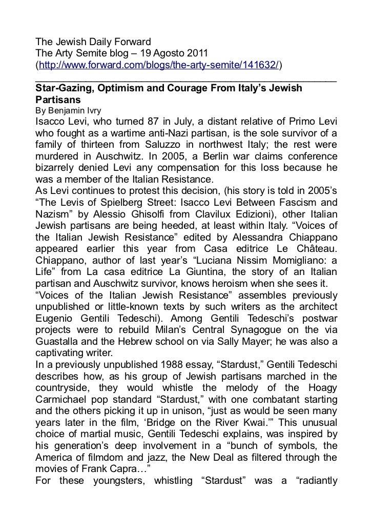 The Jewish Daily ForwardThe Arty Semite blog – 19 Agosto 2011(http://www.forward.com/blogs/the-arty-semite/141632/)_______...