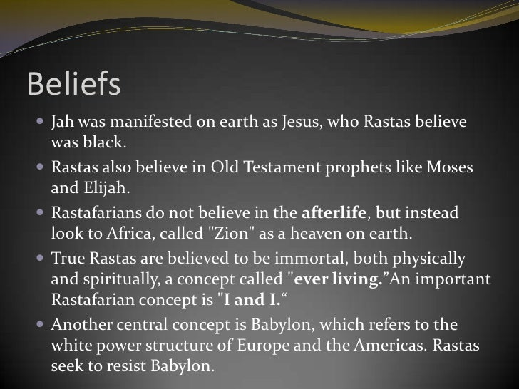 rastafarianism beleifs and way of life essay