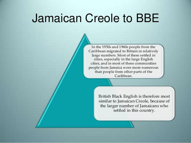 jamaican creole From jamaican creole to standard english: a handbook for teachers [dr velma pollard phd] on amazoncom free shipping on qualifying offers this guide indicates the ways in which jamaican creole differs from standard jamaican english.