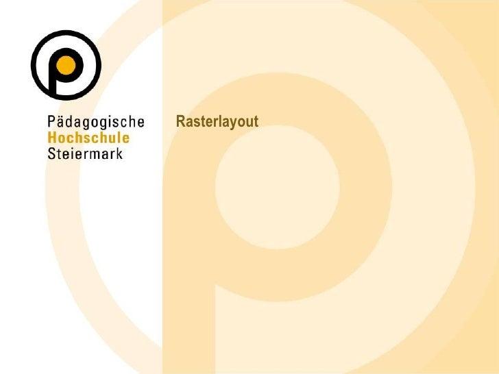 Rasterlayout<br />