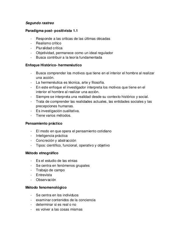Rastreo paradigma post  positivista 1.1