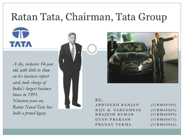 Ratan Tata, Chairman, Tata GroupA shy, reclusive 54-yearold, with little to showon his business reportcard, took charge of...