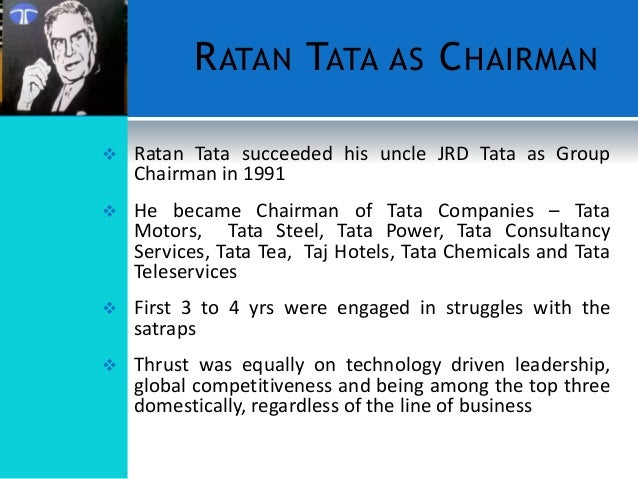 jrd tata essay The personality assigned to me for the assignment is well known mr rattan tataratan tata is an indian businessman of the tata group, which is a mumbai-based.
