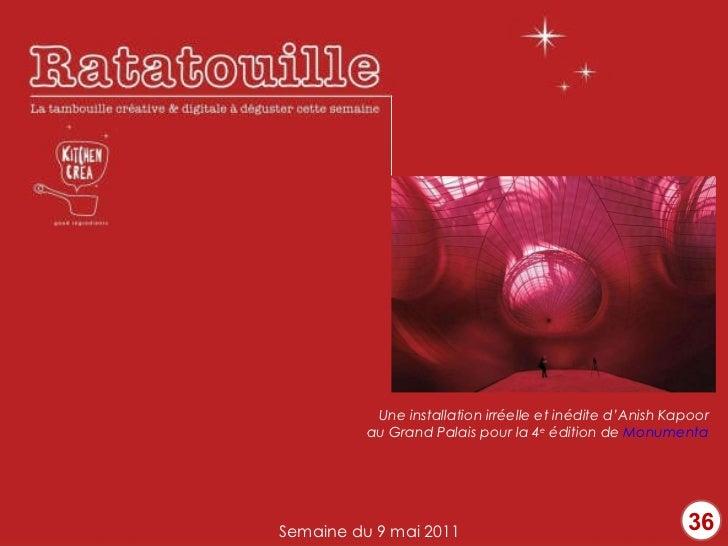 36 Une installation irréelle et inédite d'Anish Kapoor au Grand Palais pour la 4 e  édition de  Monumenta Semaine du 9 mai...