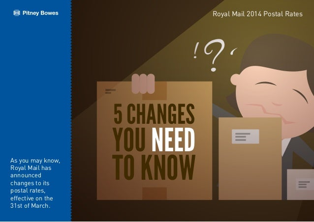 ! ? 5 CHANGES YOU NEED TO KNOW Royal Mail 2014 Postal Rates As you may know, Royal Mail has announced changes to its posta...