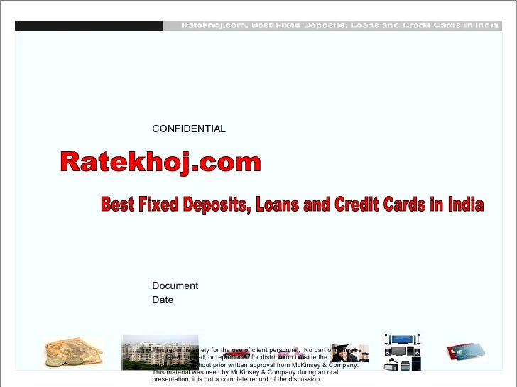 Best Fixed Deposits, Loans and Credit Cards in India - Ratekhoj.com