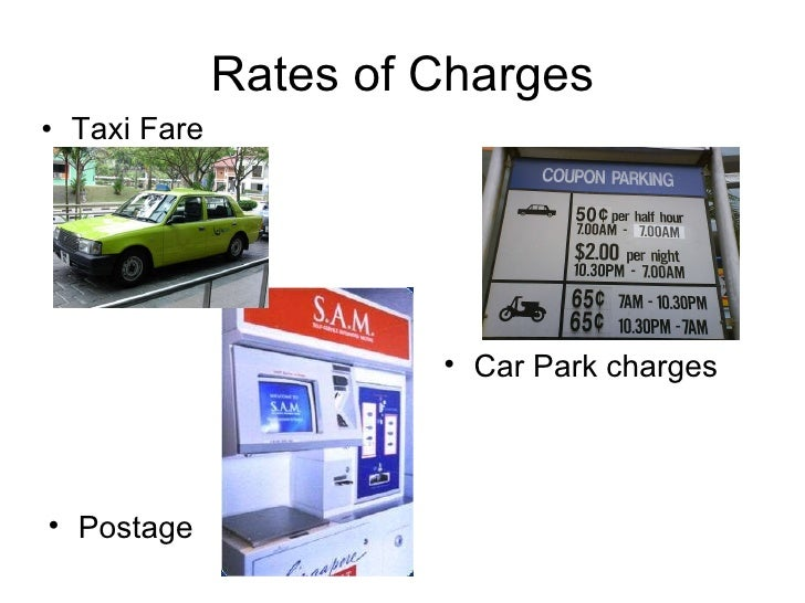 Rates Of Charges