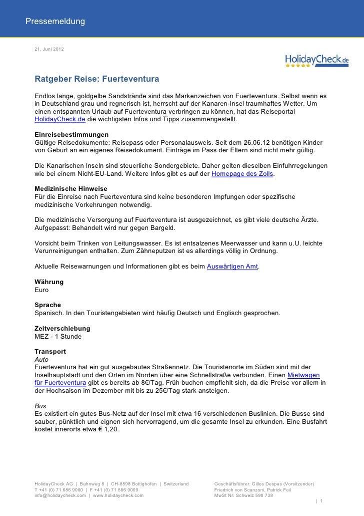 Pressemeldung 21. Juni 2012 Ratgeber Reise: Fuerteventura Endlos lange, goldgelbe Sandstrände sind das Markenzeichen von F...