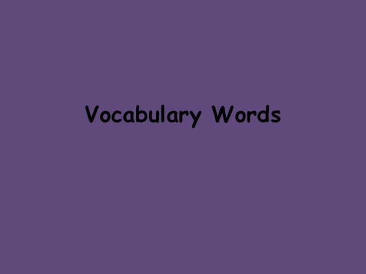 Rath Vocabulary Words