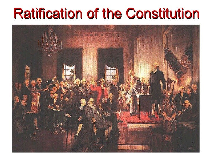 Essay on the ratification of the constitution