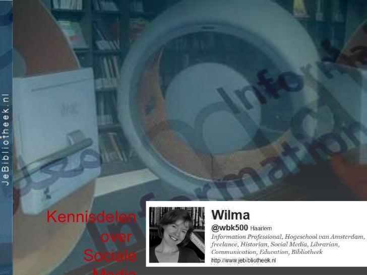 Kennisdelen over  Sociale Media