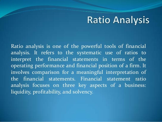 ratio analysis and financial statement for a private school Overview of aba financial statement analysis for lenders pre-session workshop at the aba commercial lending schools.