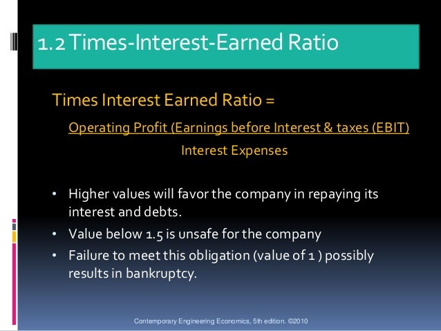 costco times interest earned ratio Home financial accounting ratio analysis net profit margin net profit margin is used to compare profitability of competitors in the times interest earned.