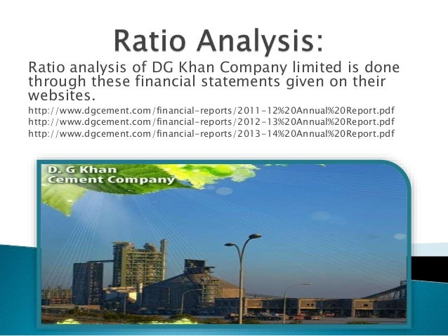 ratio analysis of aramit cement