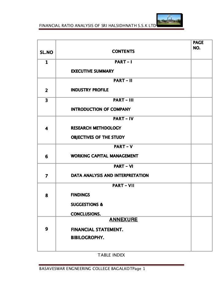 FINANCIAL RATIO ANALYSIS OF SRI HALSIDHNATH S.S.K LTD                                                        PAGE         ...