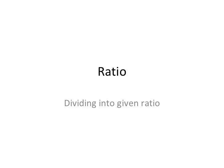 Qwizdom - Ratio dividing