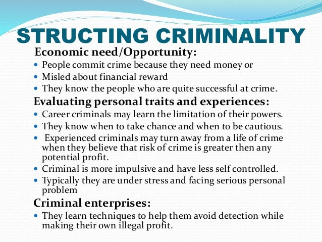 rationale choice and trait theory essay The position of rational choice theory is that criminal behavior is no different from noncriminal behavior in that it is conduct that persons intentionally.