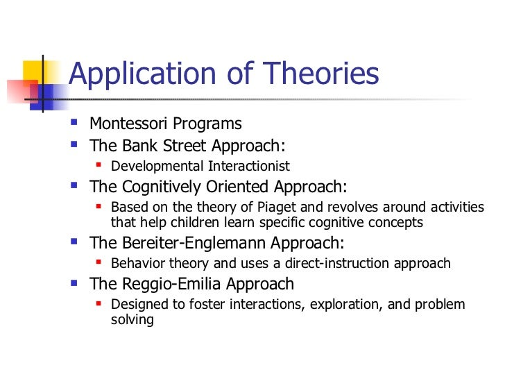 application of theory early childhood Application of theory: early childhood essays: over 180,000 application of theory: early childhood essays, application of theory: early childhood term papers, application of theory: early childhood research paper, book reports 184 990 essays, term and research papers available for unlimited access.