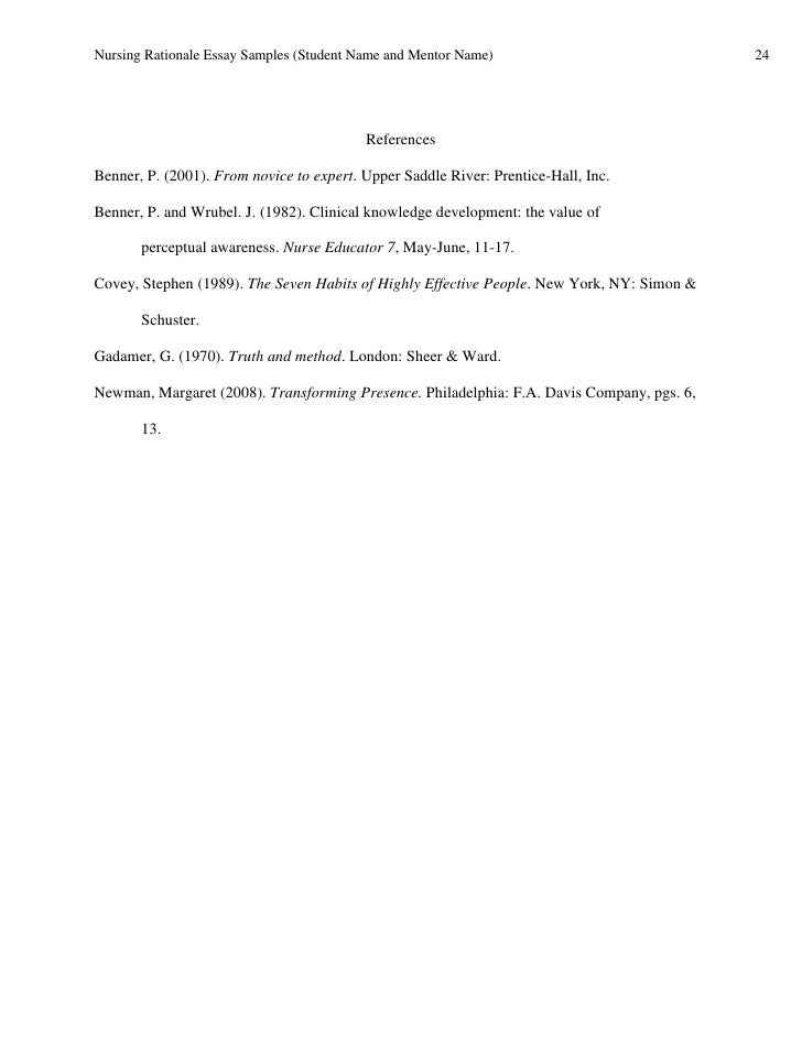 Essay examples for mba