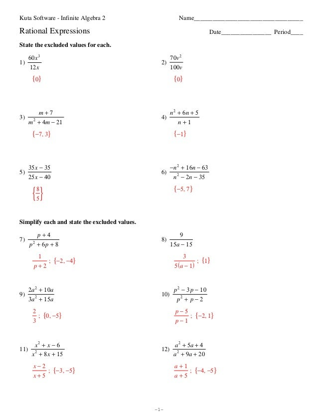 Adding And Subtracting Rational Expressions Worksheet & adding and ...