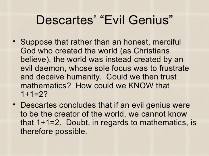 descartes and god essay Essay on descartes' meditations descartes even supposes that this god could cause us to err in mathematical and logical suppositions  descartes essay.