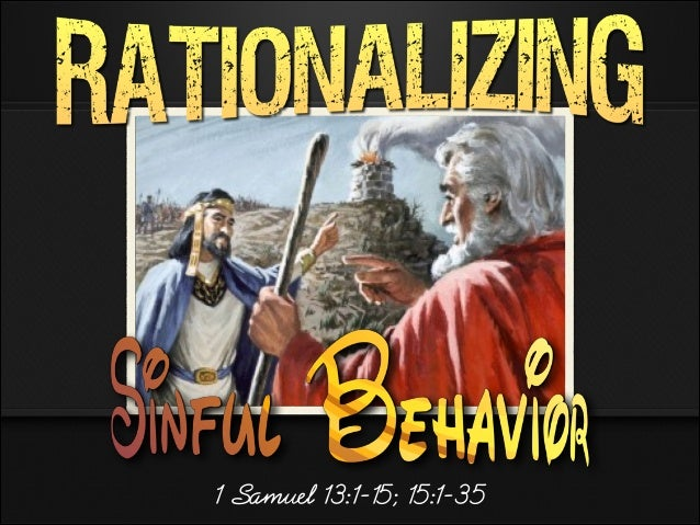1 Samuel 13:1-15; 15:1-35