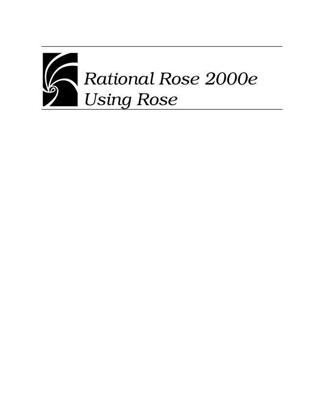 Rational rose 2000e   using rose