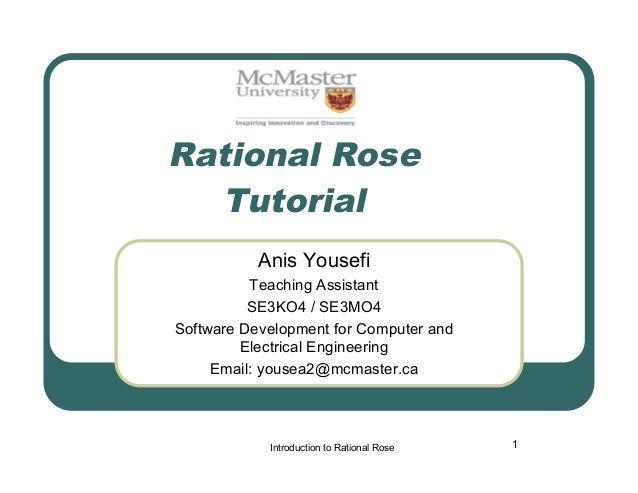 Rational rose tutorial