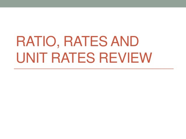 Ratio, rates and unit rates review   web