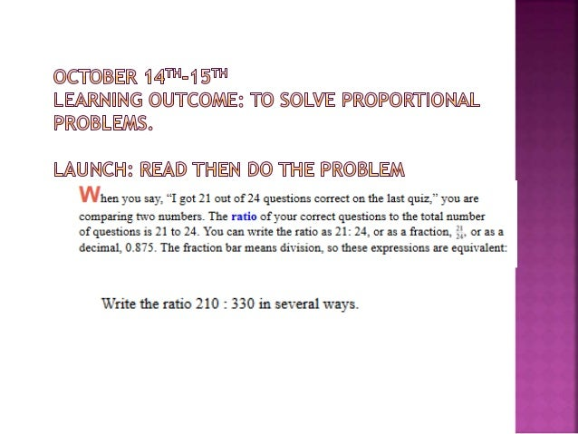 Ratios proportionsday1