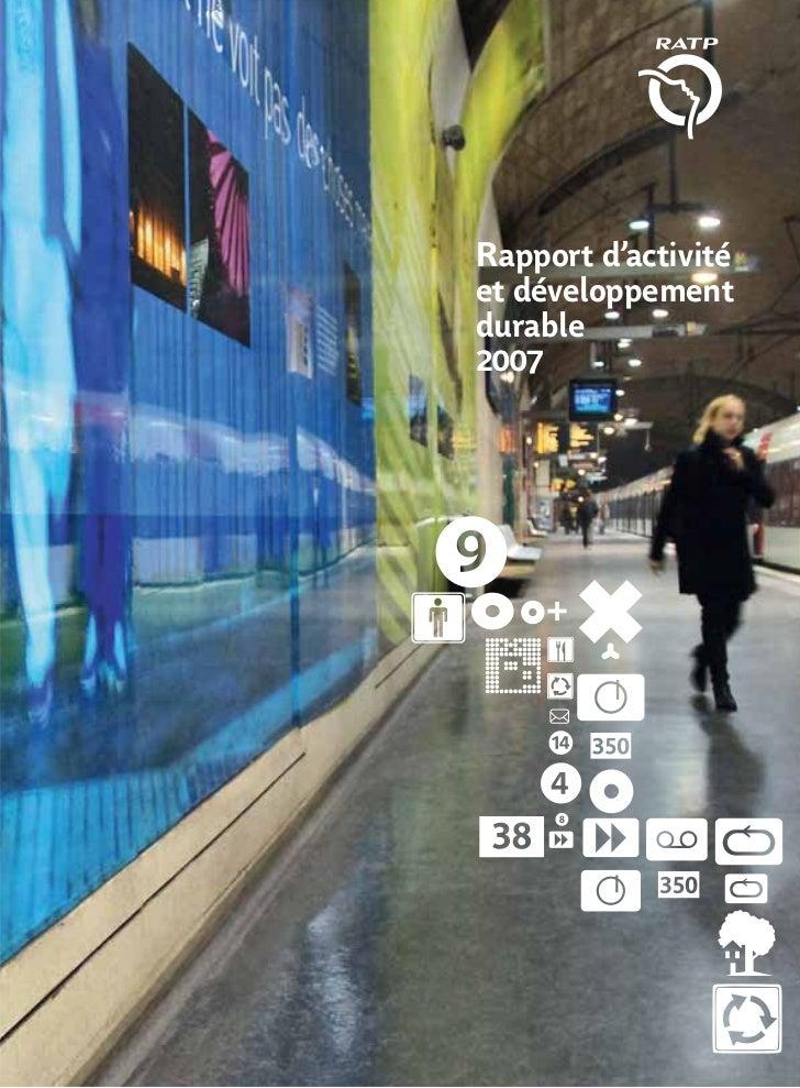 Rapport d'activité et développement durable 2007
