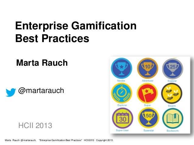 Enterprise Gamification Best Practices