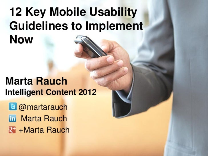 12 Key Mobile Usability Guidelines to Implement Now