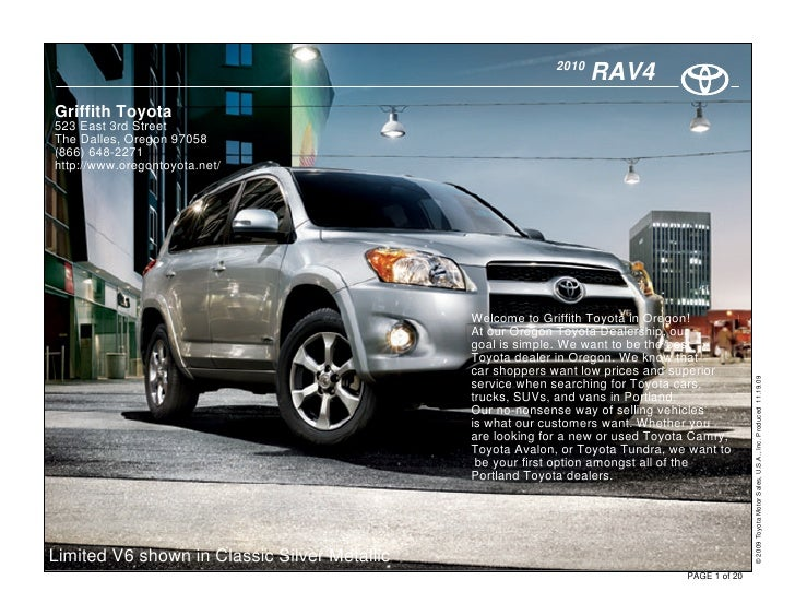 2010                                                                    RAV4 Griffith Toyota 523 East 3rd Street The Dalle...