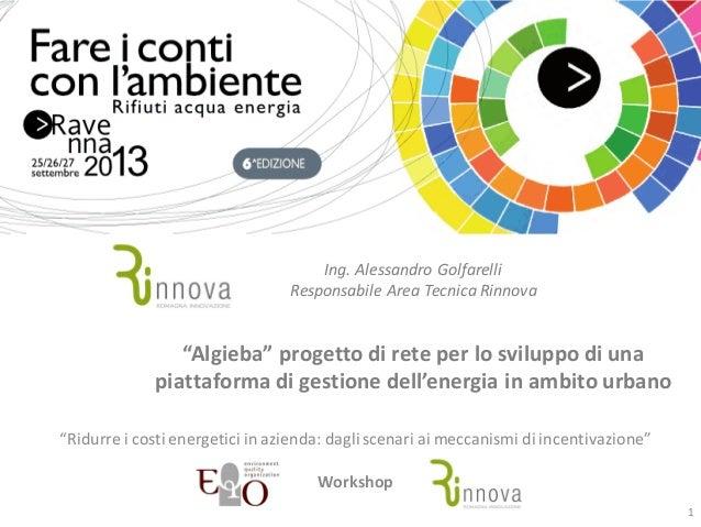 """""""Algieba"""" progetto di rete per lo sviluppo di una piattaforma di gestione dell'energia in ambito urbano"""