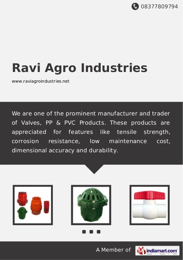 08377809794 A Member of Ravi Agro Industries www.raviagroindustries.net We are one of the prominent manufacturer and trade...