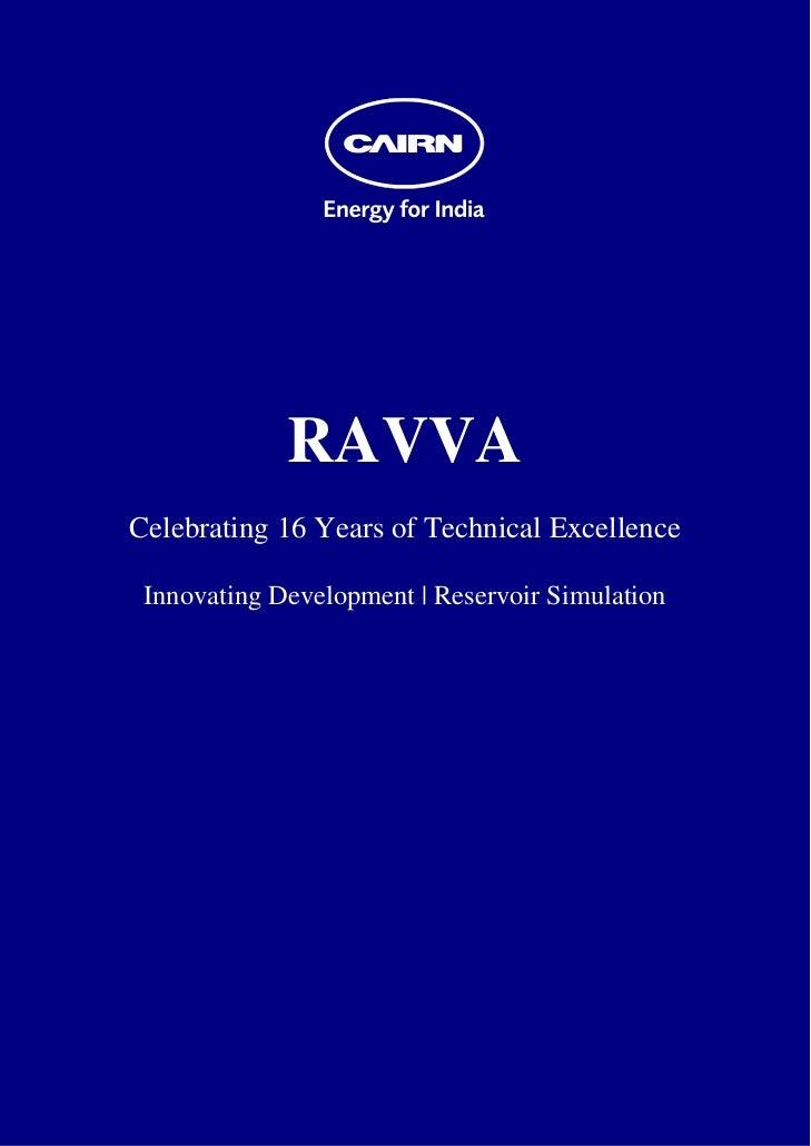RAVVA    Celebrating 16 Years of Technical Excellence     Innovating Development | Reservoir...
