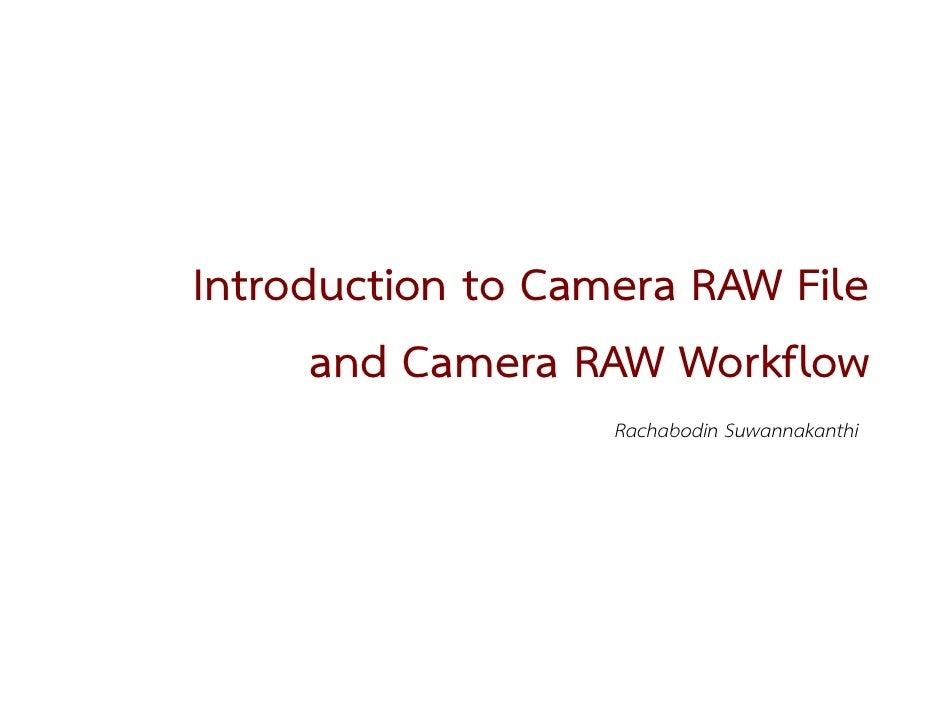 Camera RAW Workflow