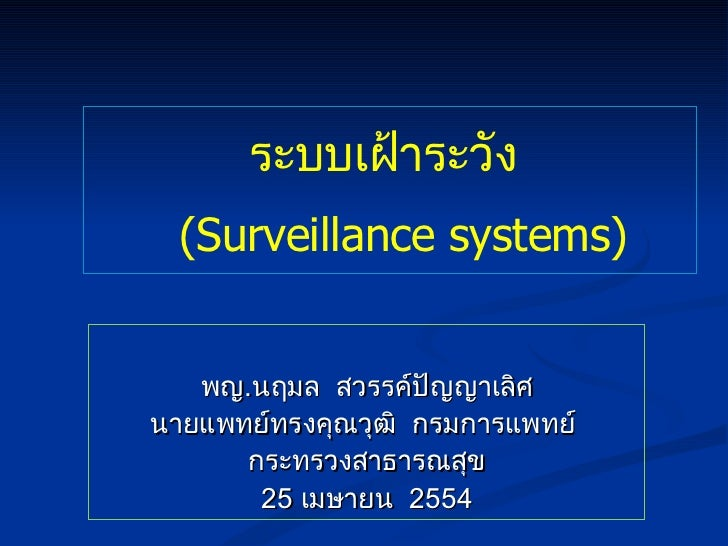 Surveillance Systems