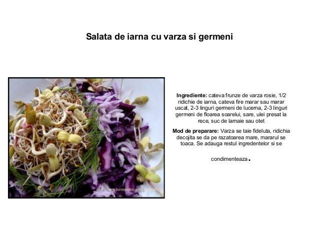 Salata de iarna cu varza si germeni Ingrediente: cateva frunze de varza rosie, 1/2 ridichie de iarna, cateva fire marar sa...