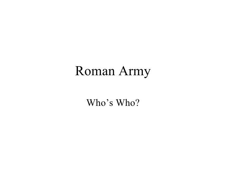 Ra, Whos Who