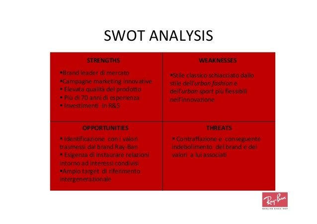 oakley inc swot This analysis includes four major factors which significantly affect organizations p: political, legal, and governmental factors: sony has its business operations all over the world, and every country has its own rules and regulations set by its government.