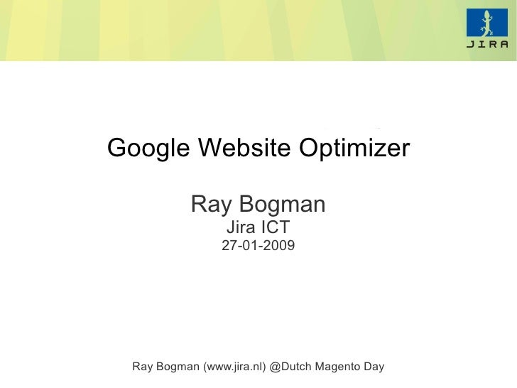 Ray Bogman Google Optimizer