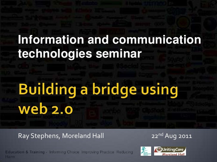 DrugInfo seminar: Building a bridge to get over it: bringing treatment services and users closer together with Web 2.0
