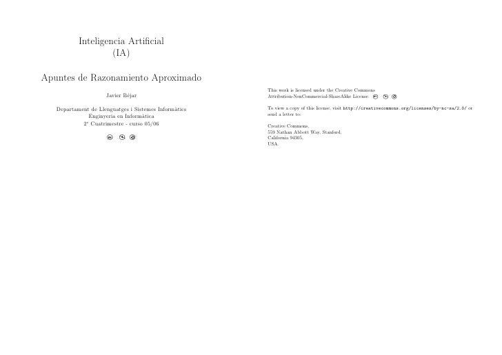 Inteligencia Artificial                     (IA)  Apuntes de Razonamiento Aproximado                                       ...