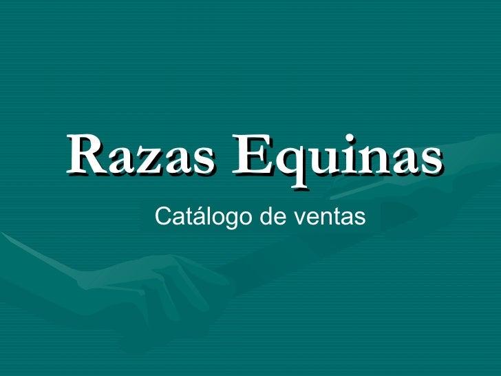 Razas Equinas Catálogo de ventas