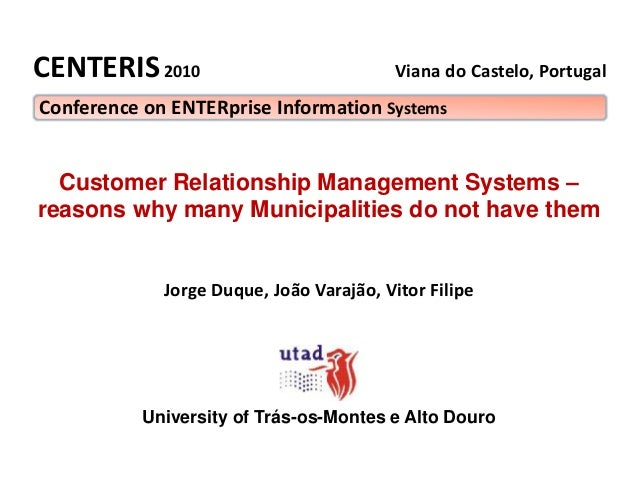 Viana do Castelo, Portugal Customer Relationship Management Systems – reasons why many Municipalities do not have them Jor...