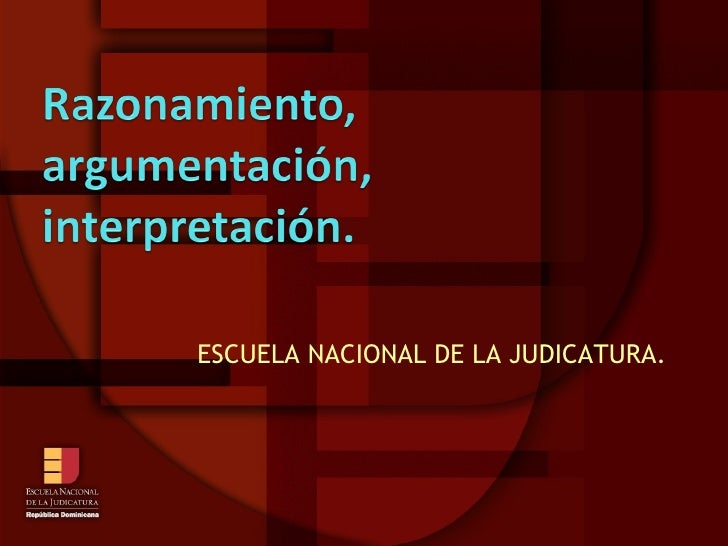 ESCUELA NACIONAL DE LA JUDICATURA.