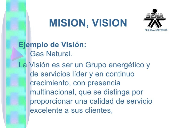 Razon social mision vision for Gas natural servicios