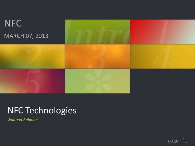 Razorfish nfc technologies presentation 2013